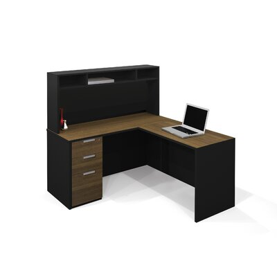 Bestar Pro-Concept Executive Desk with Hutch and Pedestal