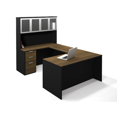 Bestar Pro-Concept Executive Desk with High Hutch and Pedestal