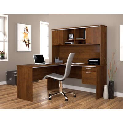 Bestar Flare 2-PIece L-Shape Executive Desk Office Suite