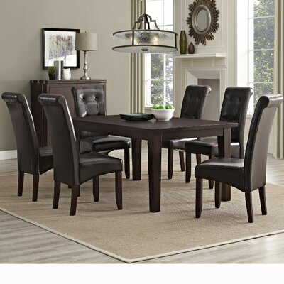 Simpli Home Cosmopolitan 7 Piece Dining Set