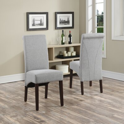 Simpli Home Avalon Fabric Parsons Chair (Set of 2)