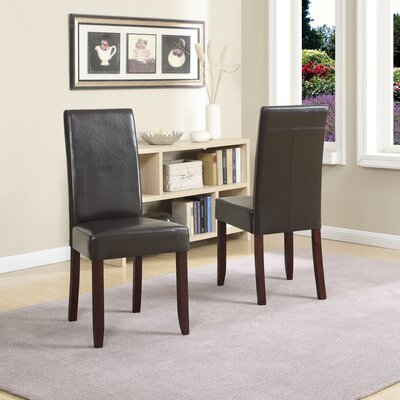 Simpli Home Acadian Parson Chair (Set of 2)