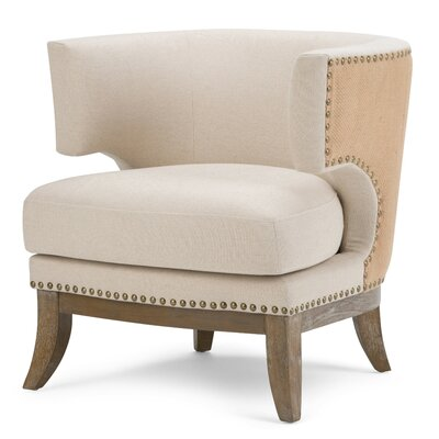 Simpli Home Hoffman Linen Barrel Chair