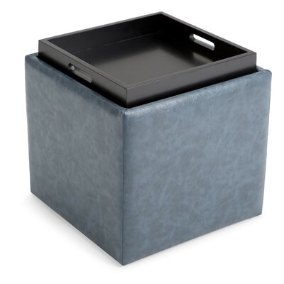Simpli Home Rockwood Cube Storage Ottoman