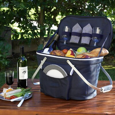 Picnic At Ascot Collapsible Insulated Picnic Basket With
