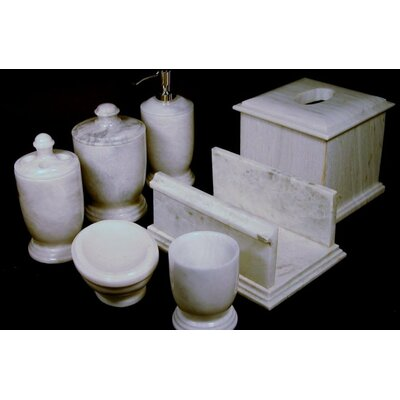 Nature Home Decor Series 300 In White Z Marble 7 Piece