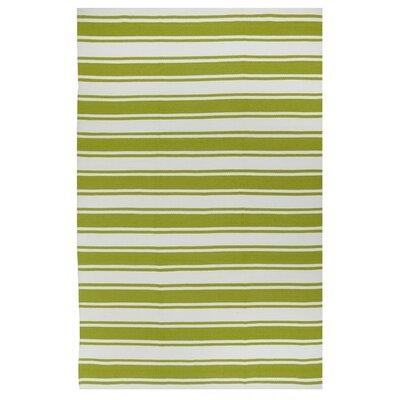 Fab Habitat Sage Green/White Striped Indoor/Outdoor Area Rug | Wayfair