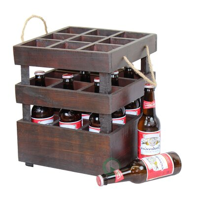 Quickway Imports Stackable Crate 9 Bottle Tabletop Wine Rack