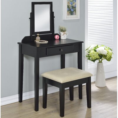 Charlton Home Percival Vanity Set with Mi..