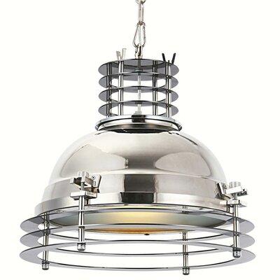 Elegant lighting industrial 1 light foyer pendant wayfair for Wayfair industrial lamp