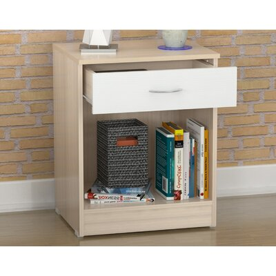 Inval 1 Drawer Nightstand