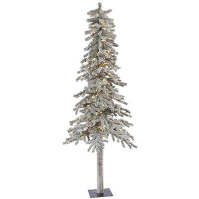 Vickerman Flocked Alpine 6' White Artificial Christmas ...