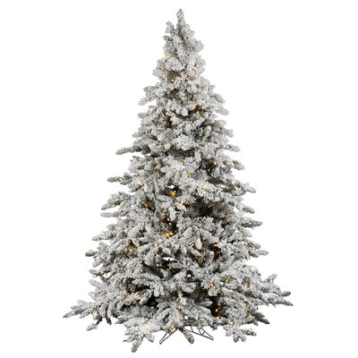 vickerman flocked utica 75 green fir artificial christmas tree with 700 led warm white lights with stand reviews wayfair - 75 White Christmas Tree