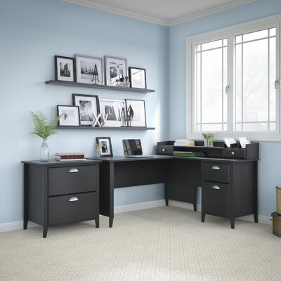 Kathy Ireland Office by Bush Connecticut 2 Piece L-Shape Desk Office Suite