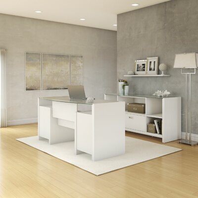 Kathy Ireland Office by Bush New York Skyline 2-Piece Standard Desk Office Suite