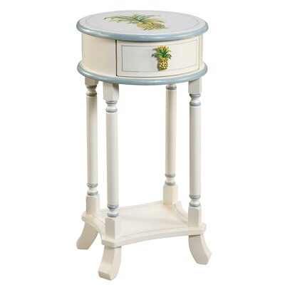 Gail's Accents Shoreline Betsy Drake Pineapple End Table