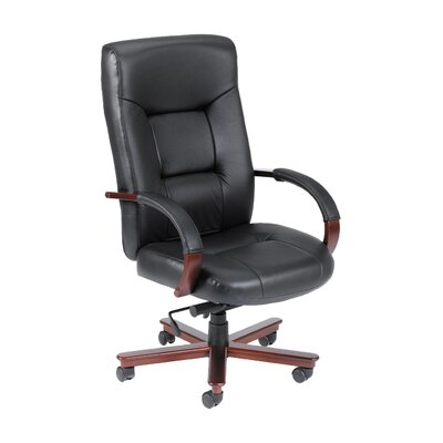 Boss Office Products High-Back Italian Leather Executive Chair Image