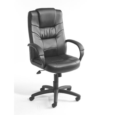 Boss Office Products Leather High Back Ex..
