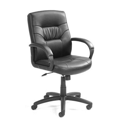 Boss Office Products Mid-Back Leather Con..