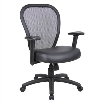 Boss Office Products Mid-Back Mesh Desk C..