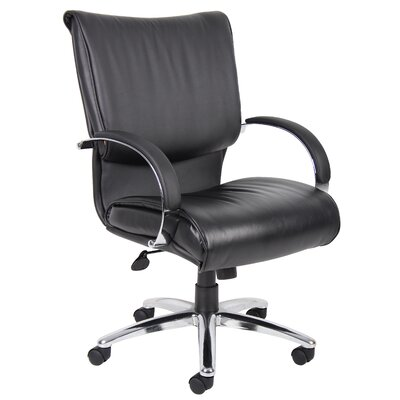 Boss Office Products Mid-Back Leather Desk Chair