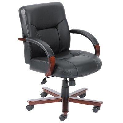 Boss Office Products Mid-Back Italian Lea..