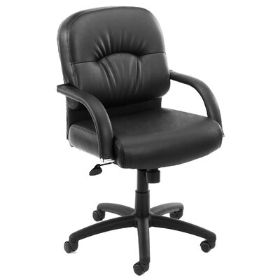 Boss Office Products Mid Back Caressoft C..