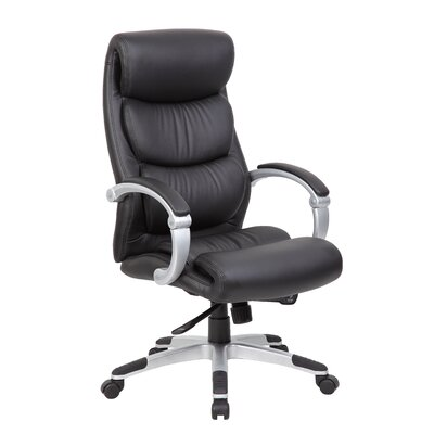 Boss Office Products Caressoft Plus Adjustable High-Back Office Chair with Hinged Arms