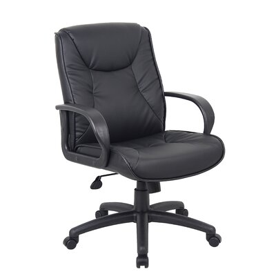 Boss Office Products High-Back Leatherplus Executive Chair with Arms