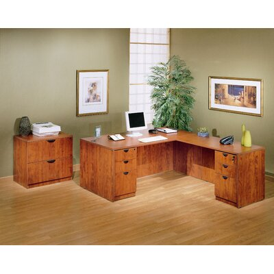 Boss Office Products 4-Piece Standard Desk Office Suite