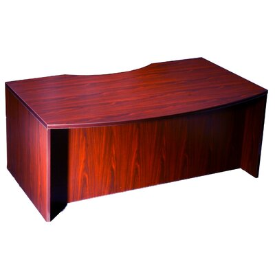 Boss Office Products Light Bow Front Desk..