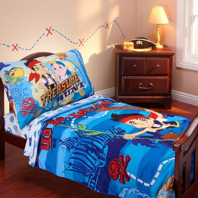the neverland pirates 4 piece toddler bedding set reviews wayfair