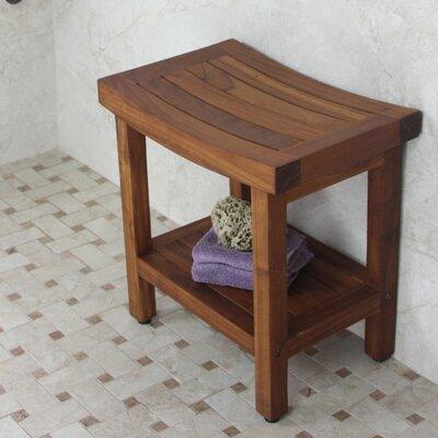 Aqua Teak Sumba Shower Bench With Shelf Amp Reviews Wayfair