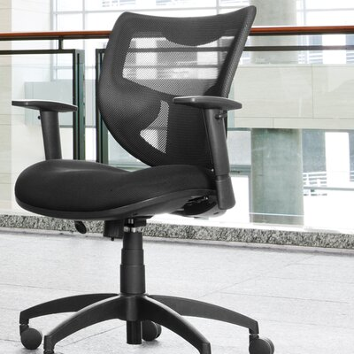OFM Poly Mesh Back Contemporary Conference Chair with Arms