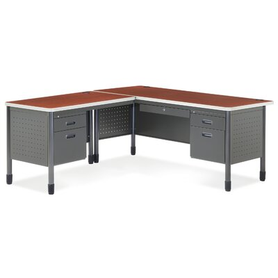 OFM Mesa Series L-Shaped Steel Desk with Laminate Top