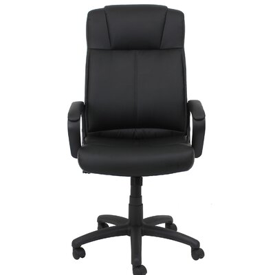 OFM Essentials High-Back Leather Desk Chair with Arms