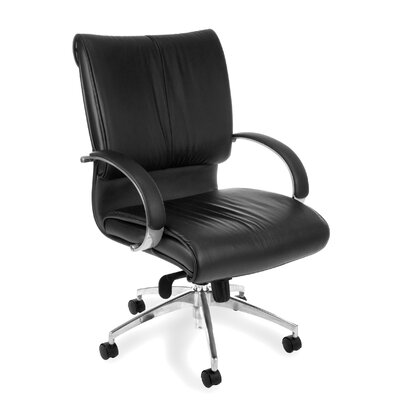 OFM High-Back Leather Sharp Executive Chair with Arms