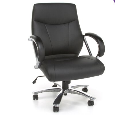 OFM Avenger Series Big and Tall Leather Executive Swivel Chair with Arms