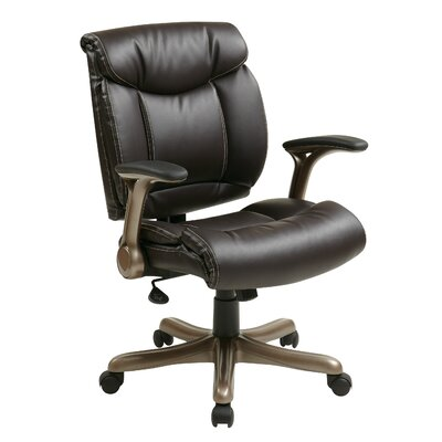 Office Star Products Mid-Back Eco Leather..