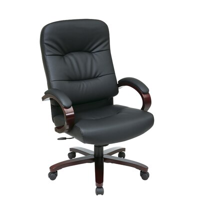 Office Star Products High-Back Leather Executive Chair