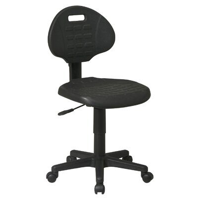 Office Star Products Low Black Urethane Task Chair