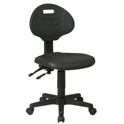 Office Star Products Low Black Ergonomic ..