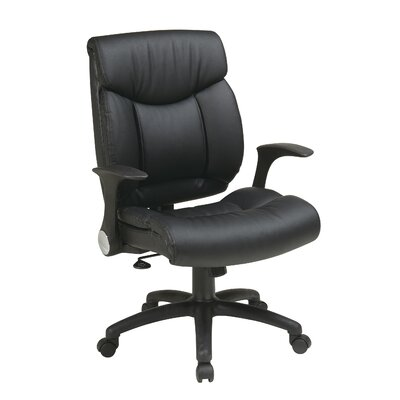 Office Star Products High-Back Manager Chair with Flip Arms