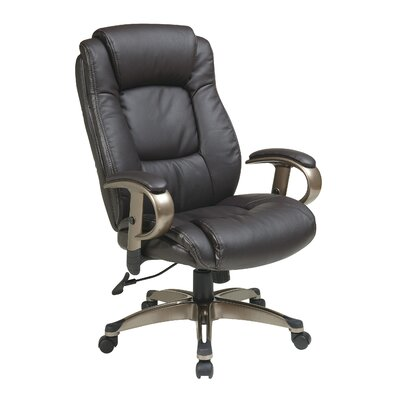 Office Star Products Eco Leather Executive Chair with Arms