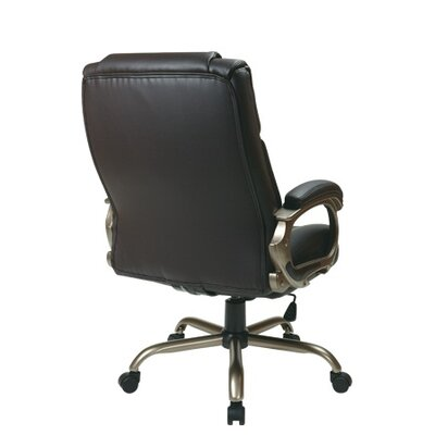 Office Star Products Eco Leather Big Mans Executive Chair with Padded Loop Arms