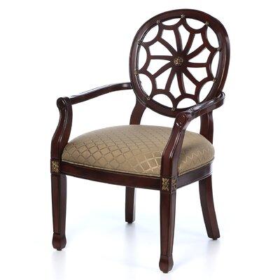 Charlton Home Lucinda Spider Web Fabric Arm Chair