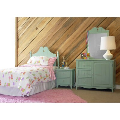 Powell Furniture Gabby Panel 4 Piece Bedroom Set