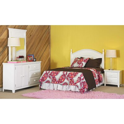 Powell Furniture Wendy Panel 4 Piece Bedroom Set