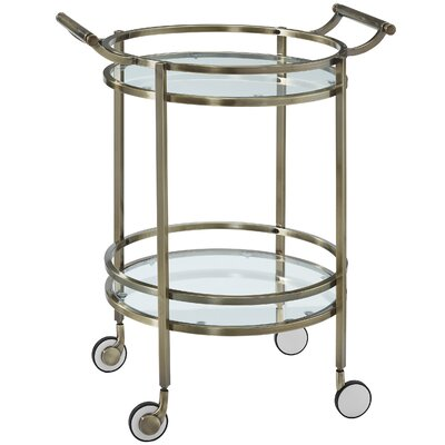 Powell Furniture Round Serving Cart