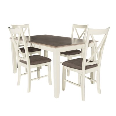 Laurel Foundry Modern Farmhouse Amaury 5 Piece Dining Set